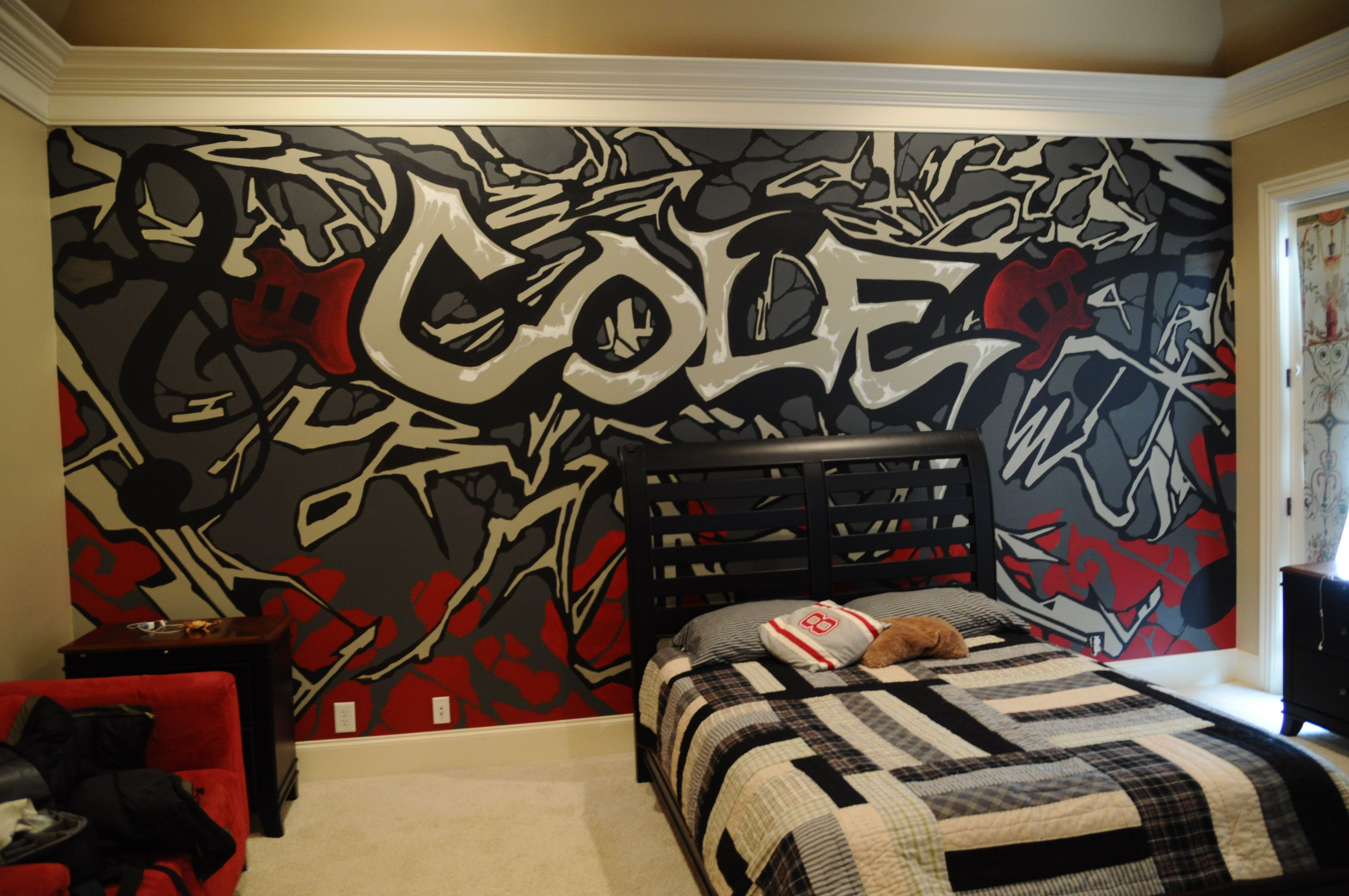 A Mural That I Did For A Teenage Boy S Room Teenager Bedroom