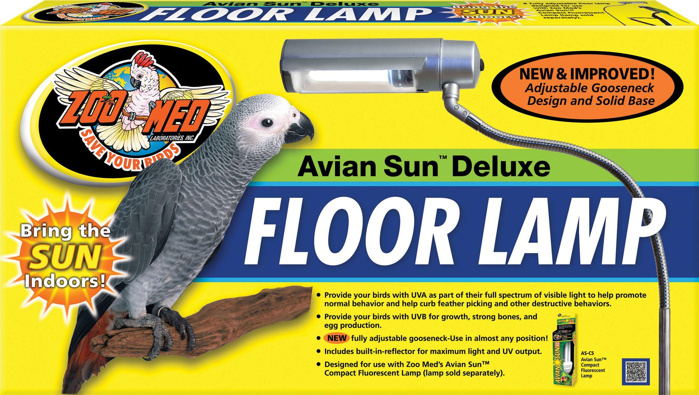 Birds Aviansun Deluxe Floor Lamp By Zoo Med Laboratories 26 Watt In 2020 Zoo Med Floor Lamp Bird Supplies