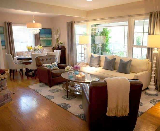 19 Living Room Dining Room Combo Layout Small Apartment 48 Decorinspira Com Diseno De Sala De Estar Decoracion De Casas Pequenas Decoracion De Interiores