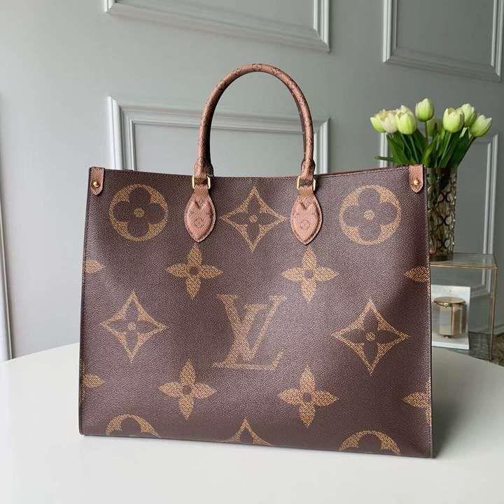 Designer Monogram Print Handbag