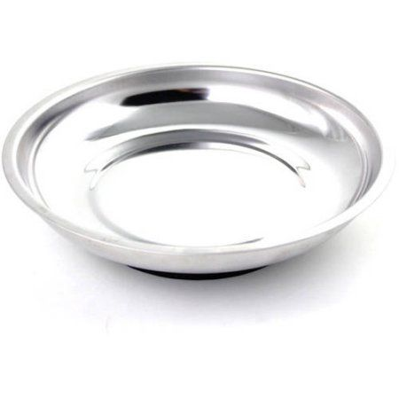 Capri Tools Magnetic Tools Tray, Stainless Steel, Round, Chrome