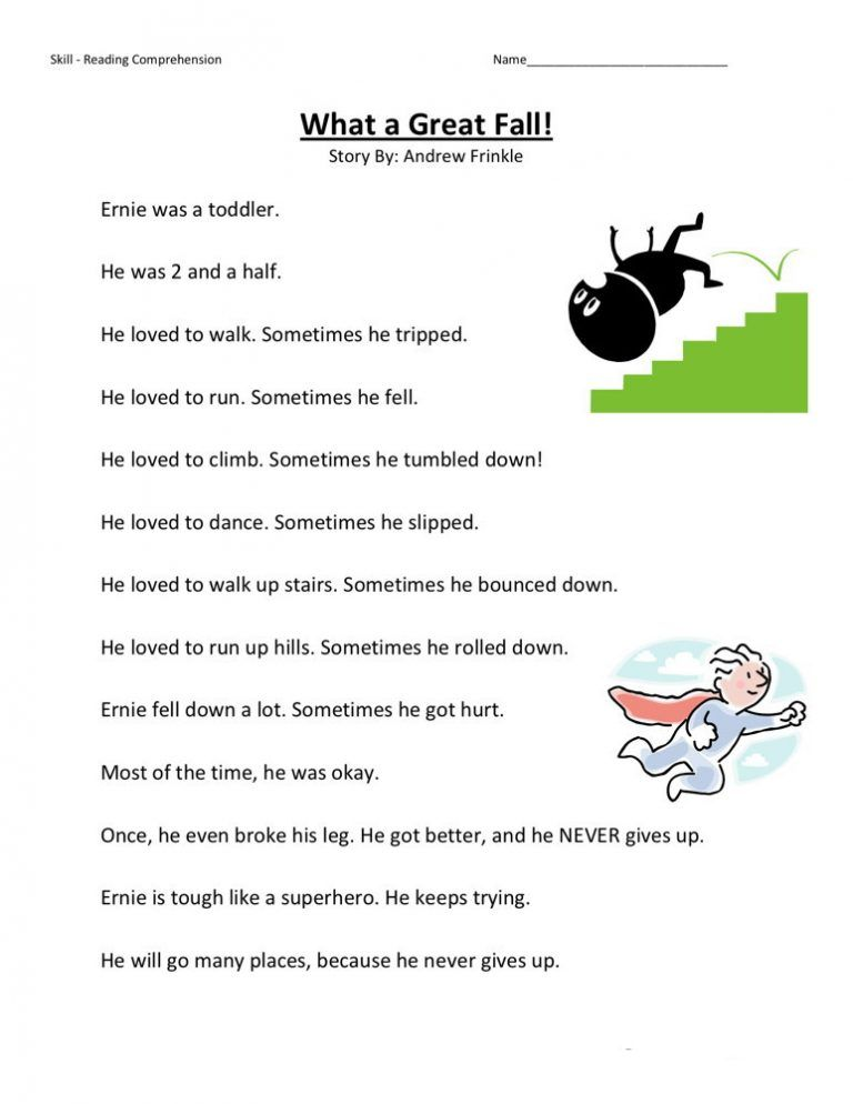 2nd Grade Reading Worksheets Reading comprehension