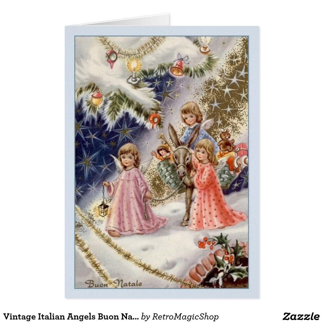 Vintage Italian Angels Buon Natale Christmas Card | CHRISTMAS CARDS ...