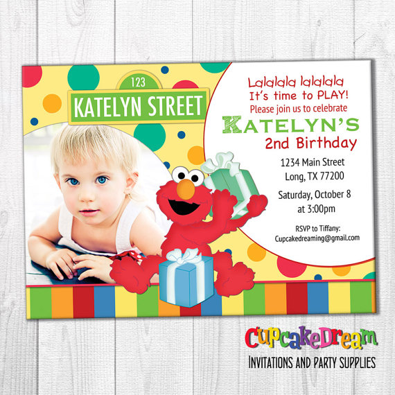 Elmo Invitation Sesame Street Birthday