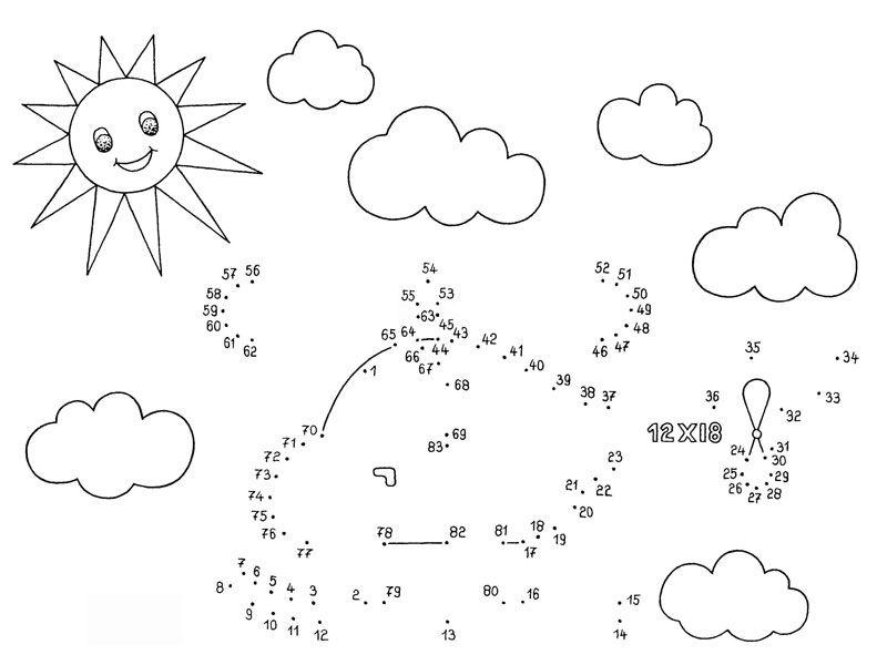 Ausmalbild Malen nach Zahlen: Malen nach Zahlen: Hubschrauber ...