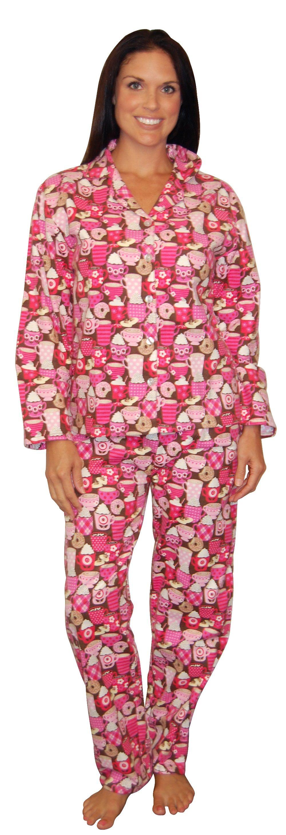 9f145747f944 PajamaMania Hot Chocolate Flannel Pajama