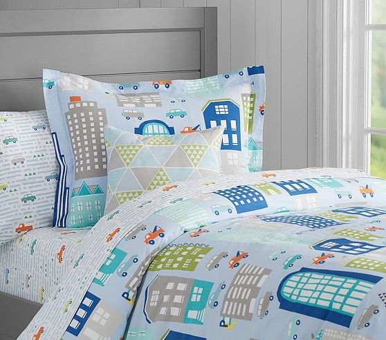 32bf738184 Organic Aiden Printed Duvet Cover