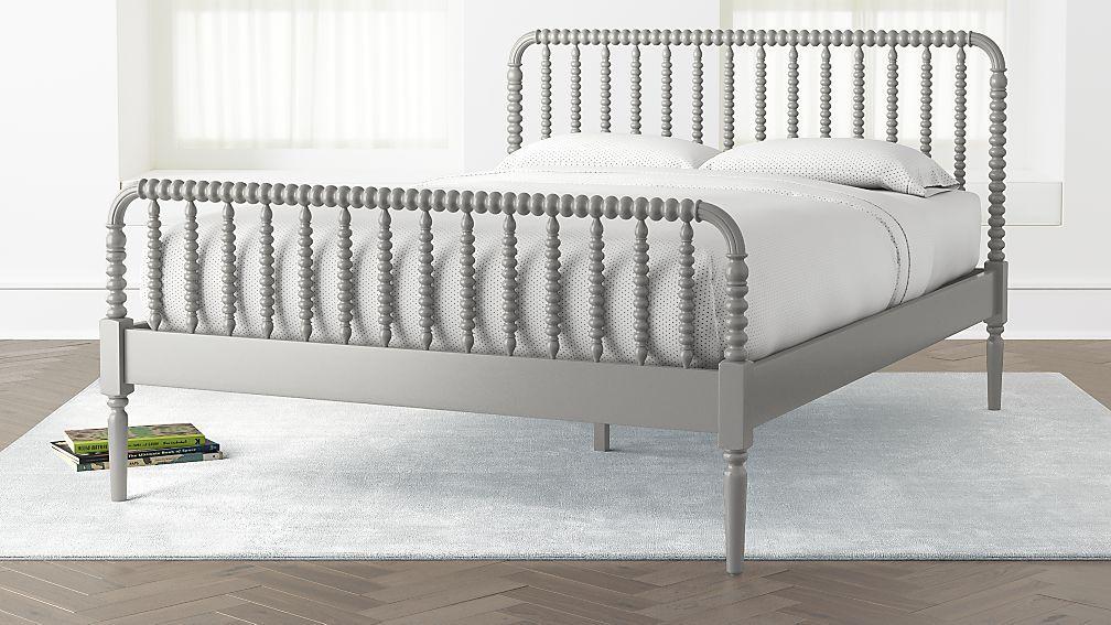 Jenny Lind Grey Queen Bed White queen bed, Black queen