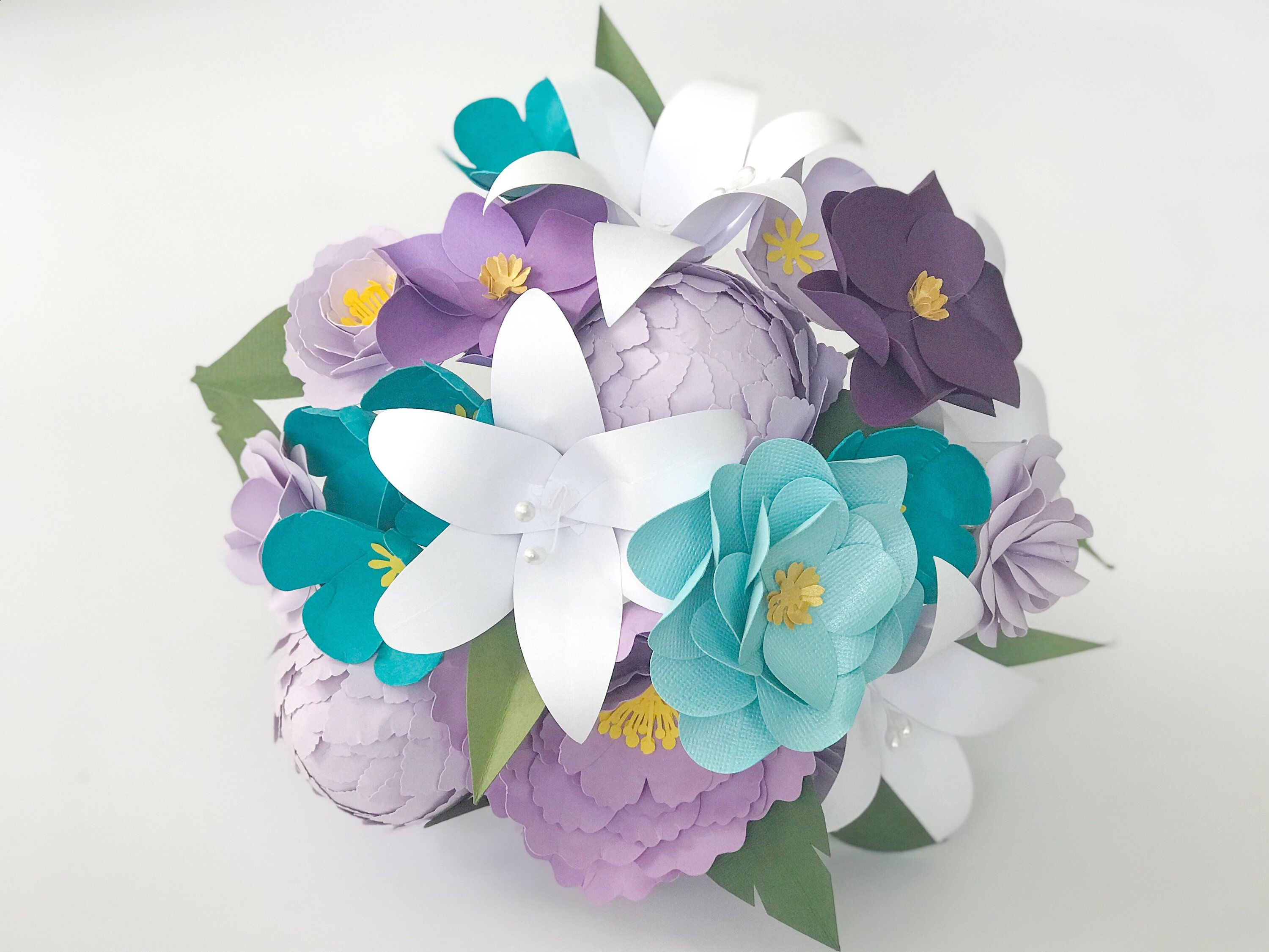 Paper Flowers Paper Bouquet Romantic Gift Anniversary Gift Gift