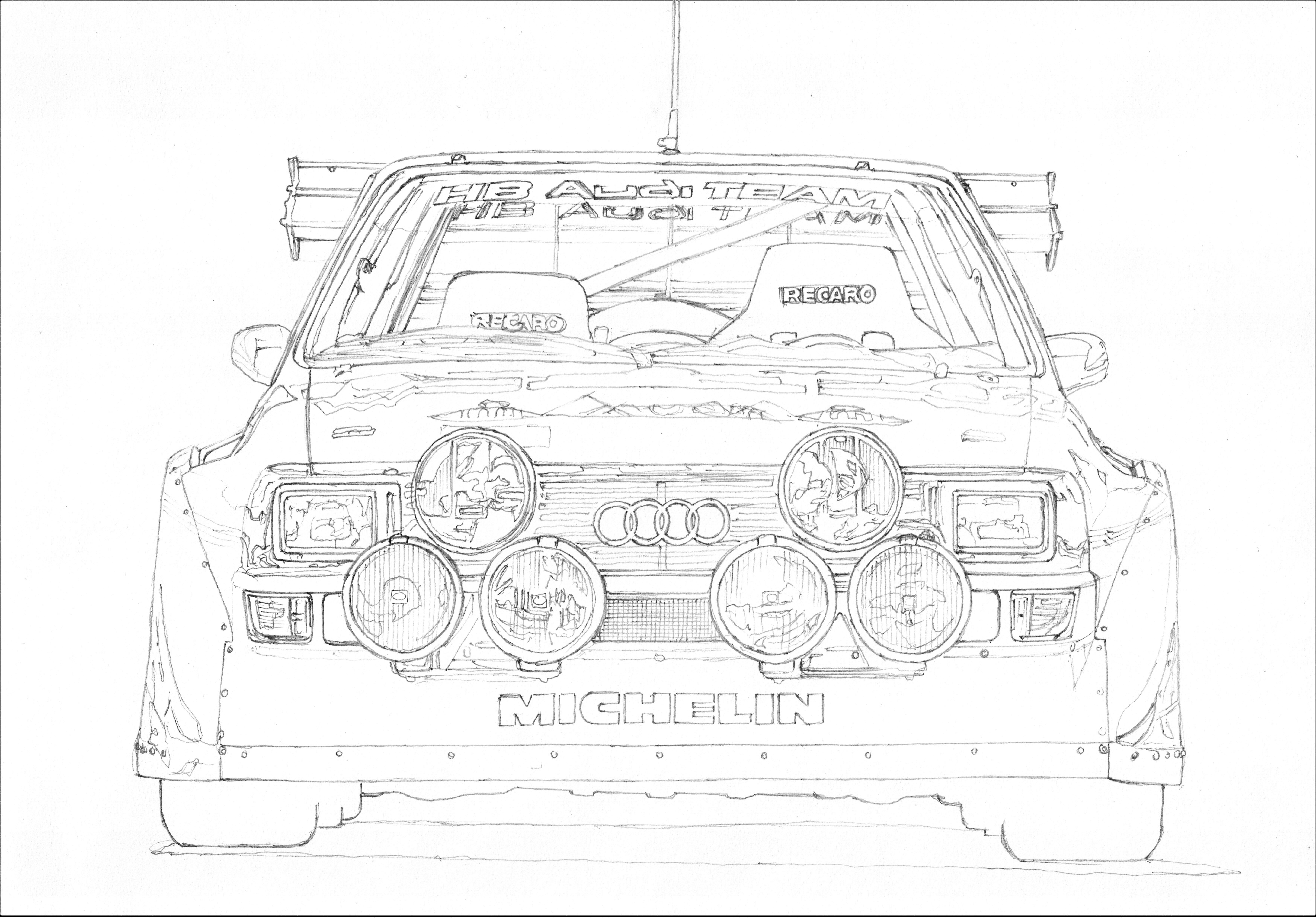 Audi Quattro S1 Group B 1 3 I M Not Audi Fan But This Model Is Completely Insane Masterpiece Of German Motorsport When I Me Toyota Supra Sketch Book Drawings