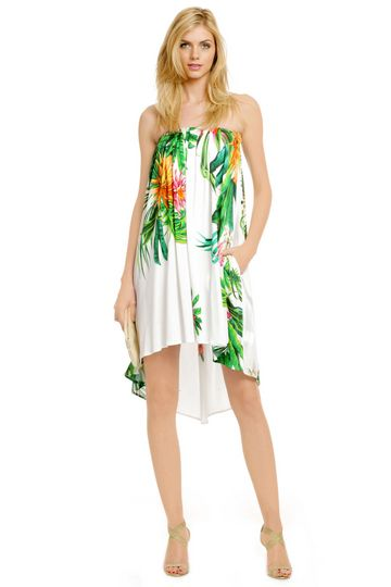 under the hawaiian palms dress  msgm hawaiian party