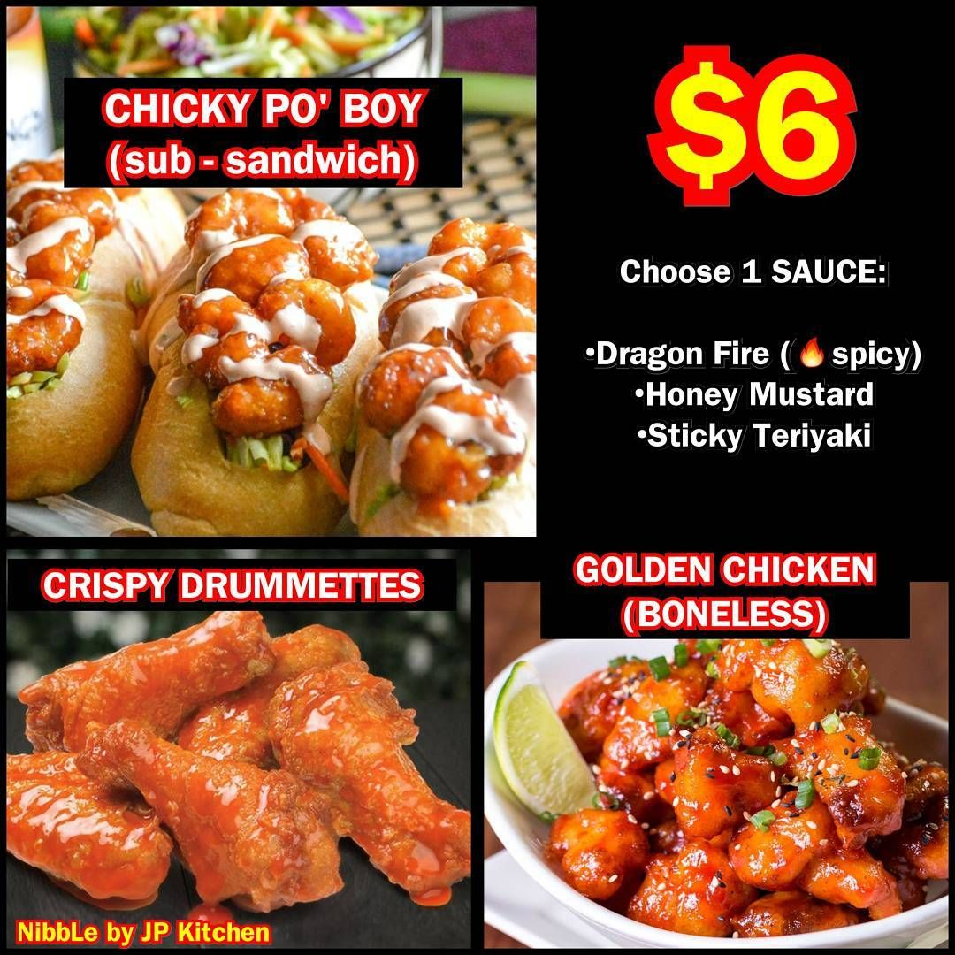 Affordable Yummy 6 Nibble By Jpkitchen2016 Choice Of 3 Sauces Dragon Fire Honey Mustard Sticky Teriyaki Available 29 March To Honey Mustard Food Blogger Eat