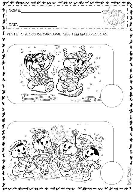Atividades E Desenhos Para Colorir Carnaval Atividades Carnaval Maternal Atividades De Carnaval Atividades Para Educacao Infantil
