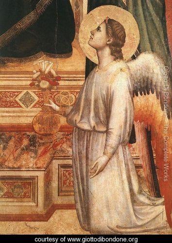Ognissanti Madonna [detail: 2] (or Madonna in Maestà) - Giotto Di Bondone…