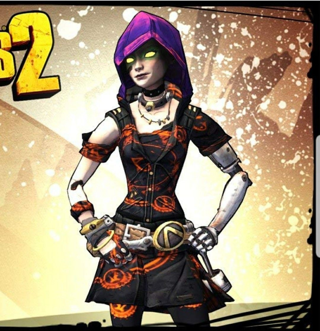 Gaige From Borderlands 2 With Necrosis Head And Chaos Reigns Skin Borderlands Superhero Wonder Woman