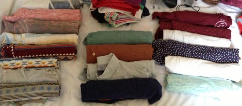 Roll up all of your clothes when packing to save space!