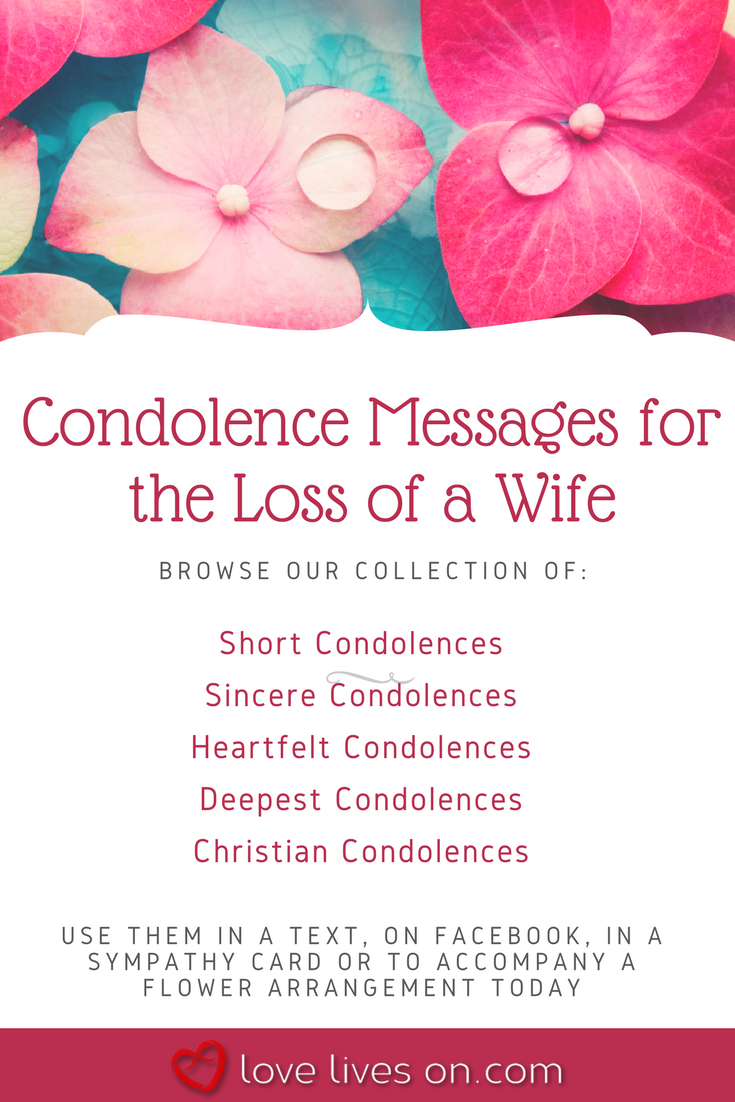What To Write Sympathy Card Loss Of Wife Billingss