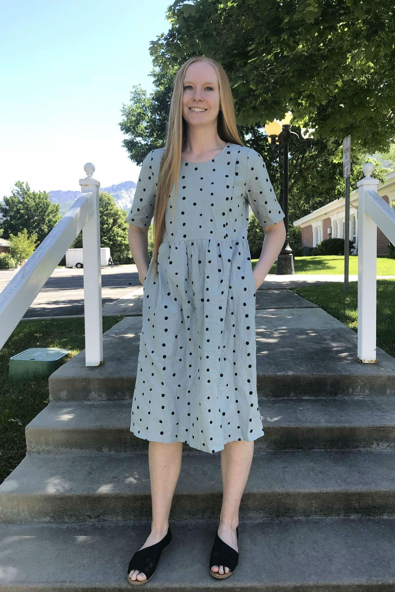 6269f6db35a Modest polka dot dress, nursing dresses with zippers, modest nursing  friendly dress, breastfeeding dresses, modest mint dress, modest sage green  dress, ...