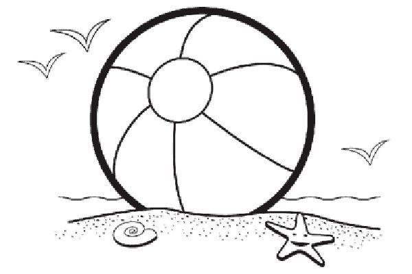 Beach Ball Coloring Pages Free