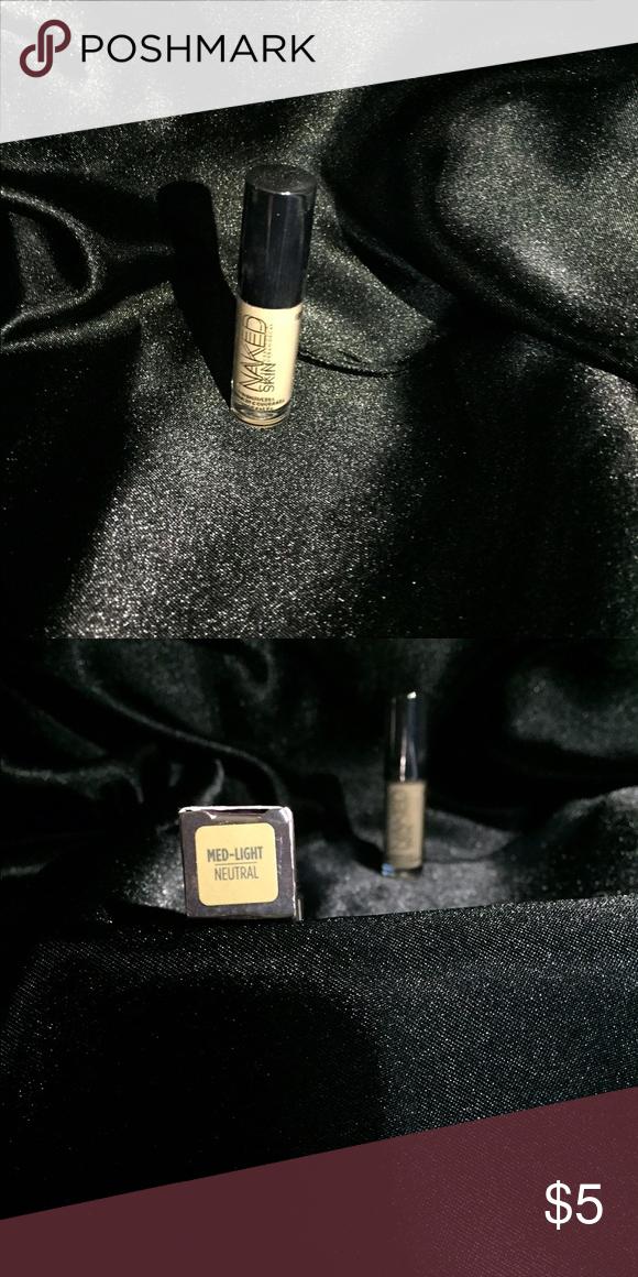 Naked concealer Weightless complete coverage color medium light .90% full naked Makeup Concealer