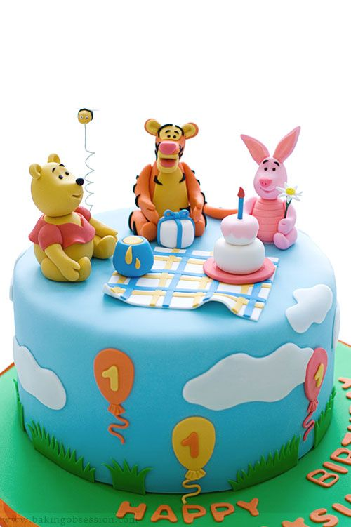 Winnie The Pooh Cake For A First Birthday Perhaps