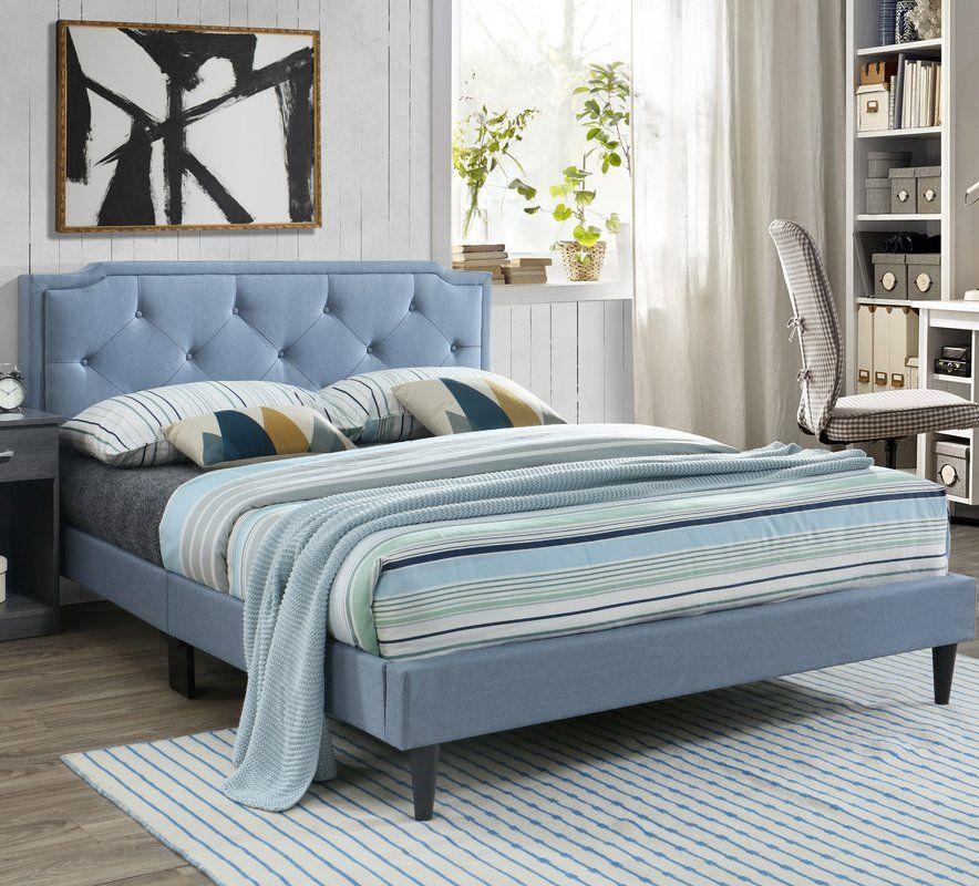Indianapolis Upholstered Standard Bed Upholstered Bed Frame Bed