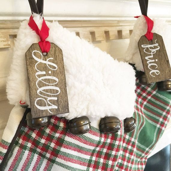 Personalized Christmas Stocking Name Tags By Millionayres On Etsy