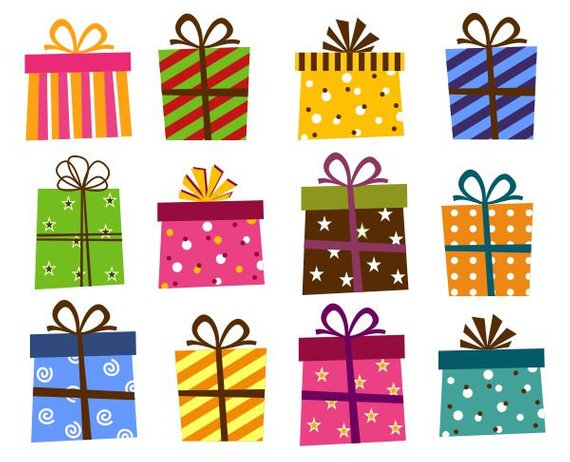 Giftbox Clip Art Present Boxes Clip Art Instant Download Etsy In 2021 Christmas Present Clip Art Clip Art Christmas Drawing