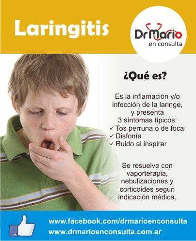 Laringitis, ¿qué es, cuáles son sus síntomas? Ver más en: http://www.drmarioenconsulta.com.ar/?p=2080