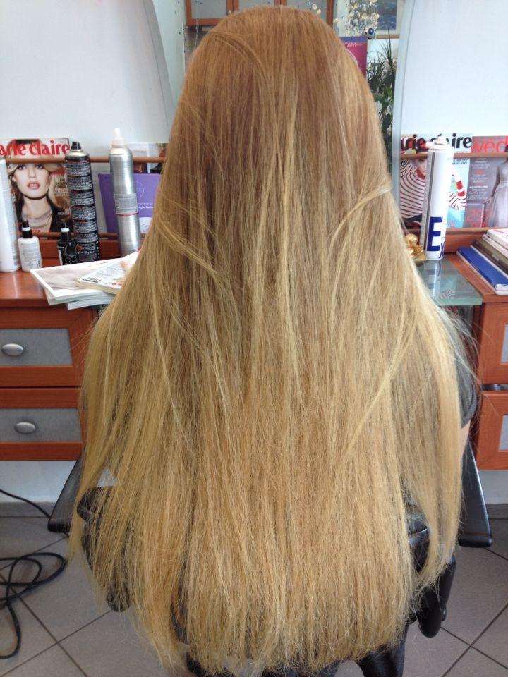 Uzun saç balyajbalayage