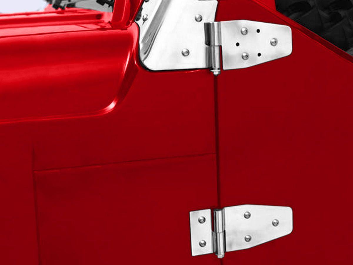 Smittybilt Jeep Wrangler Door Hinges Stainless Steel Set Of 4 For Half Steel Doors 7441 87 06 Jeep Wrangler Yj Tj Jeep Wrangler Doors Steel Doors Stainless Steel Doors