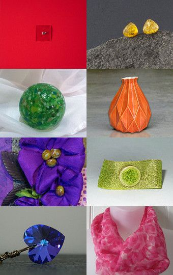 it's about color--pure and simple by Ann Brauer on Etsy--Pinned with TreasuryPin.com