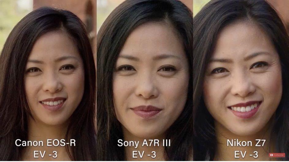 Canon Eos R Vs Nikon Z7 Vs Sony A7 Iii Mirrorless Camera Comparison The Slanted Lenscompares The Canon E Mirrorless Camera Camera Comparison Canon Dslr Camera