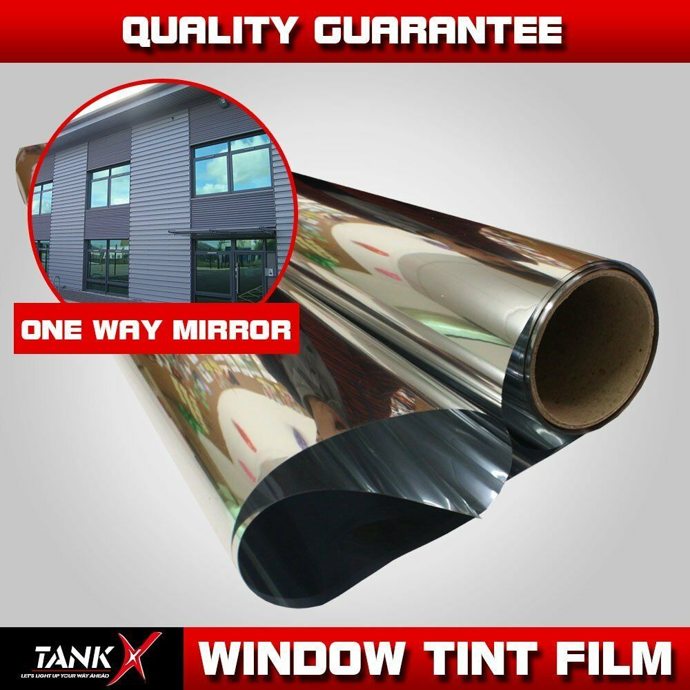 One Way Mirror Window Tint Film Privacy Static Home Solar Anti Shatter Uv Proof Window Tint Film Tinted Windows Glass Office