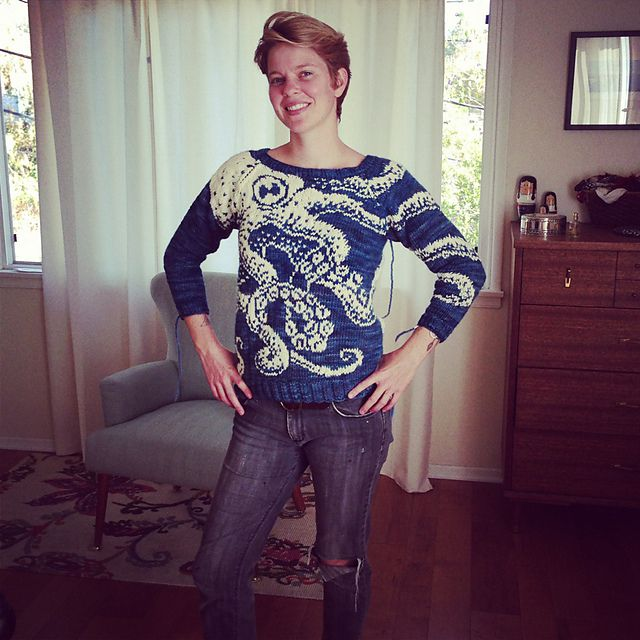 Ravelry: HYMagic's Claire's 34th Birthday Sweater (Embrace