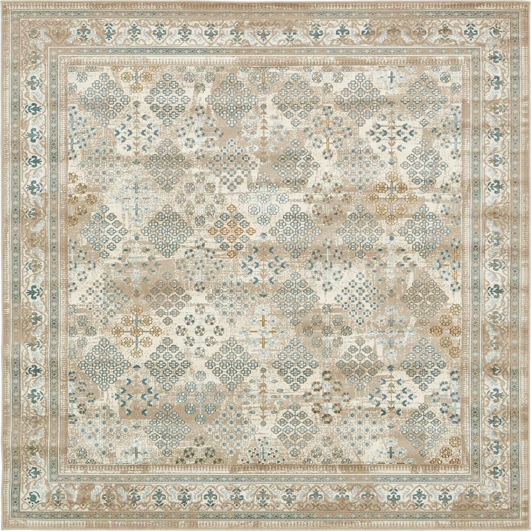 Beige 6 X Montreal Square Rug Area Rugs Erugs 6x6