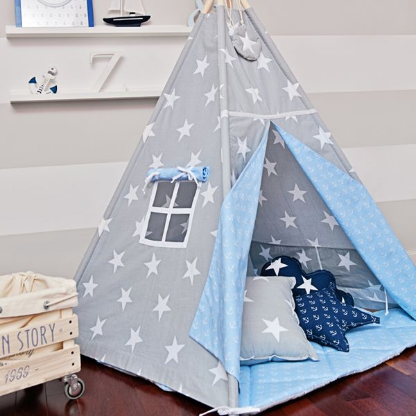 tipi anker und sterne von funwithmum auf baby kind pinterest kinderzimmer. Black Bedroom Furniture Sets. Home Design Ideas