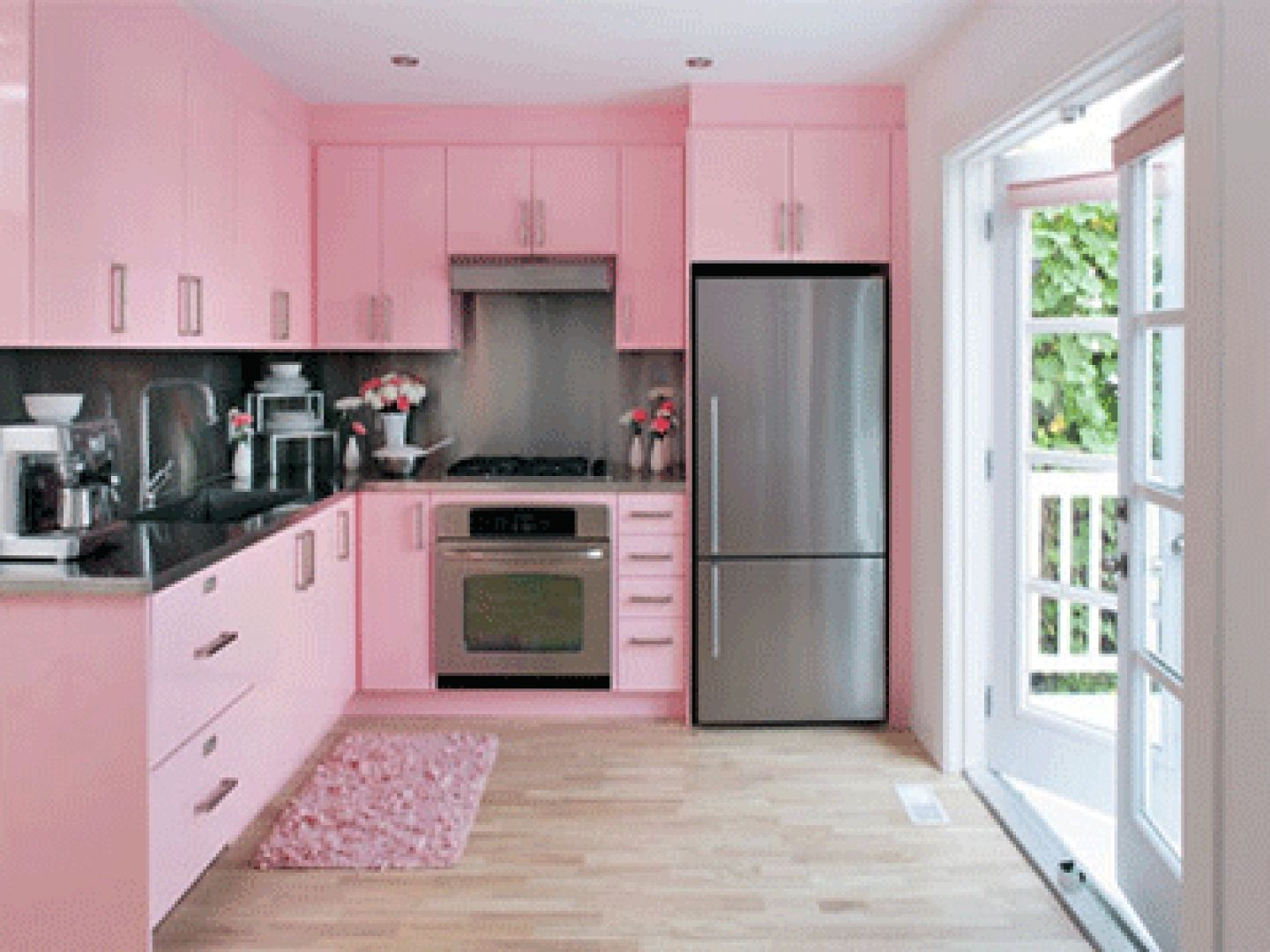 Wall Paint Colors Modern Kitchen Neutral And Pink Color Scheme