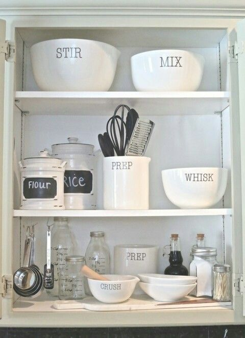 Create a designated cooking cabinet (if there is enough cabinets in the kitchen)