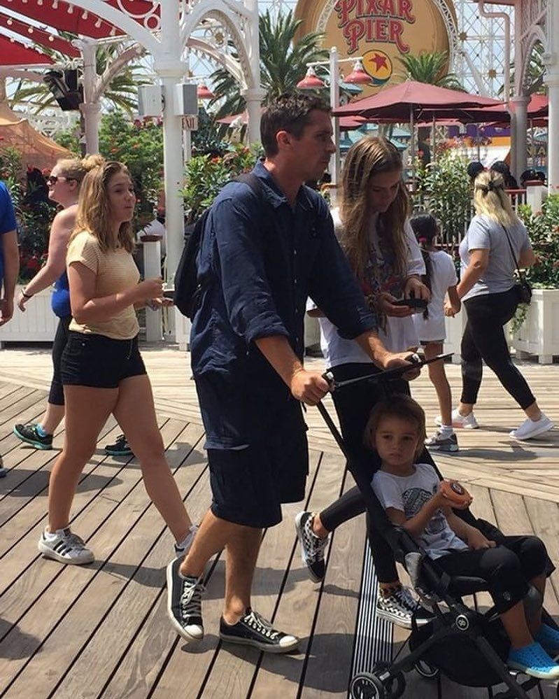 Actor And Producer Christian Bale Was Seen At Disneyland Today