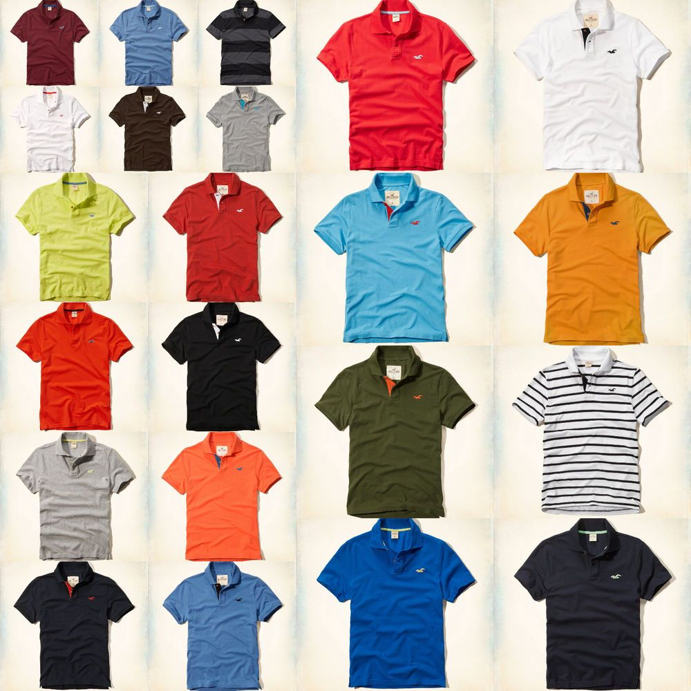 9003e01d New Hollister By Abercrombie Mens Muscle Fit Polo Shirt T Shirt Size S M L  XL #Hollister #PoloRugby