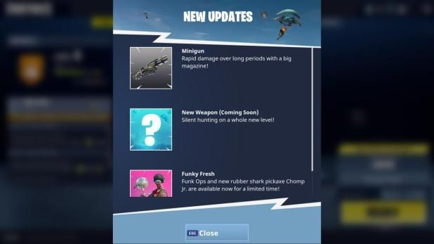 New Fortnite Update Is Out Now With Minigun (And Some Bugs ...