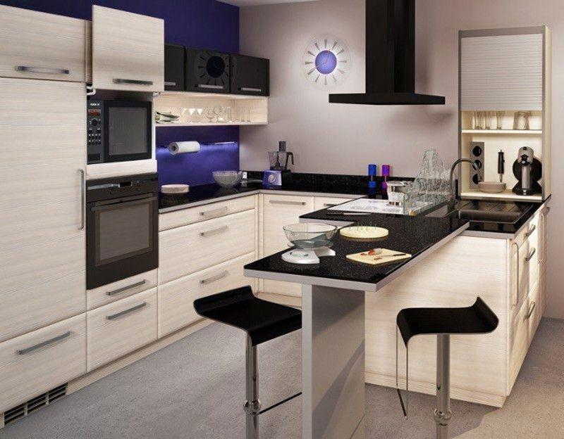 Peque a cocina americana con puertas termolaminadas cocinas pinterest puertas - Cocinas modernas americanas ...