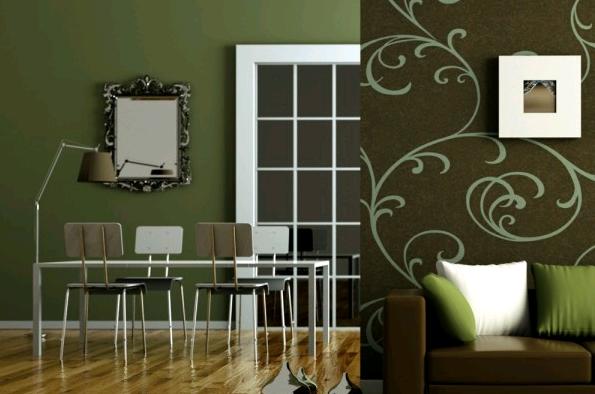 Pareti Salotto Verde : Il verde scuro delle pareti il colore verde nellarredamento
