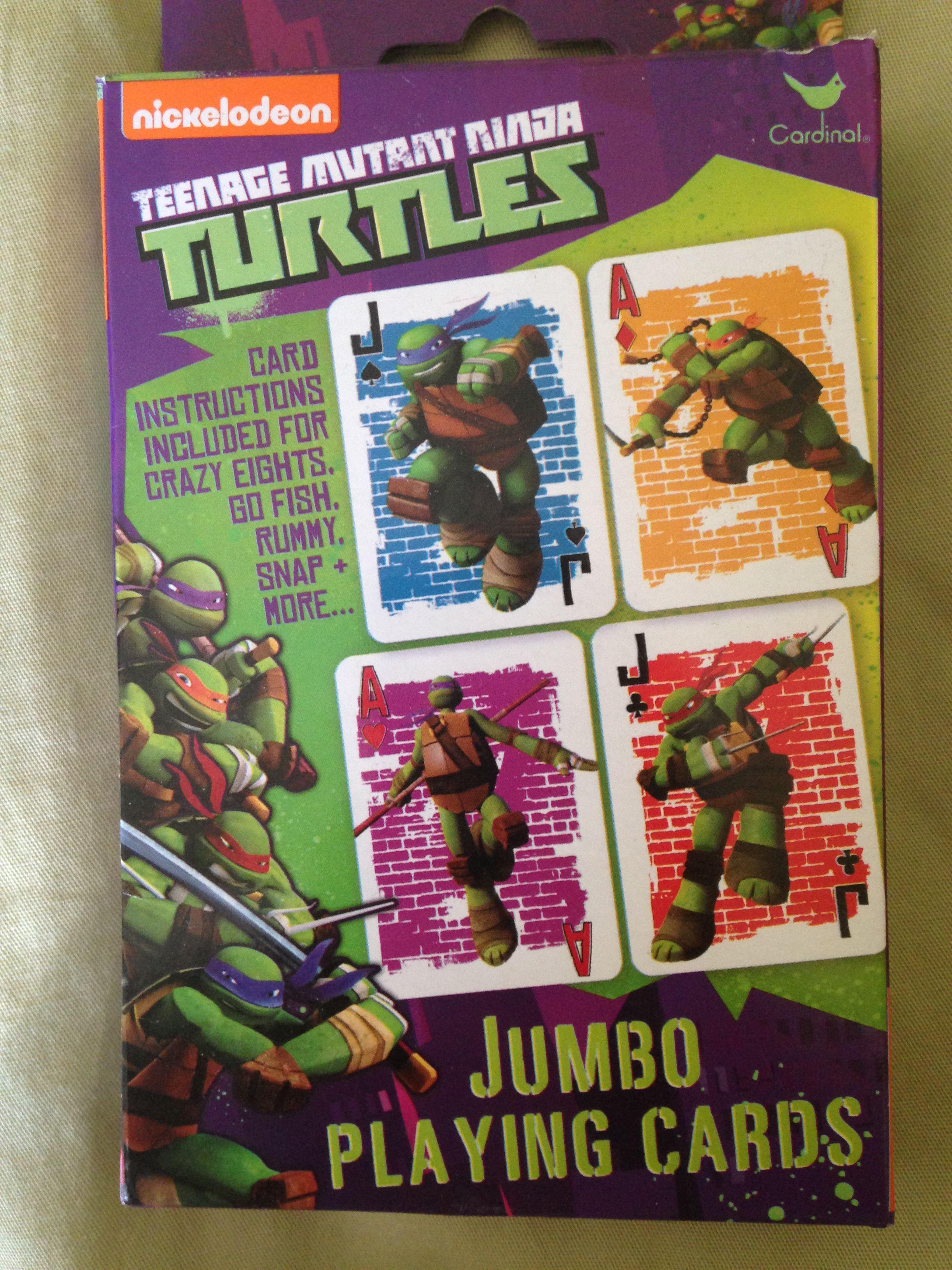 Teenage Mutant Ninja Turtles jumbo playing cards. Super