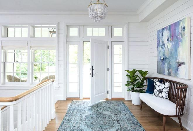 Best Benjamin Moore Super White Entryway Rug White Doors Foyer 400 x 300