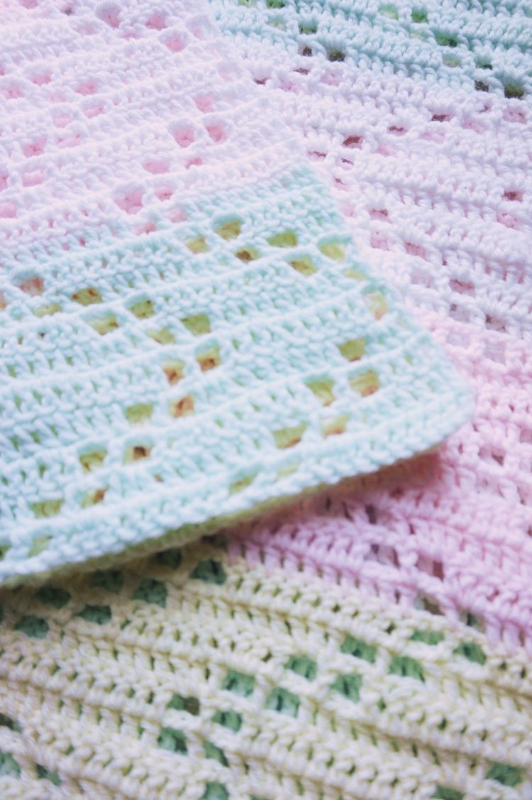THE HOPSCOTCH CROCHET BABY BLANKET - FREE PATTERN | Pinterest | Ropa ...