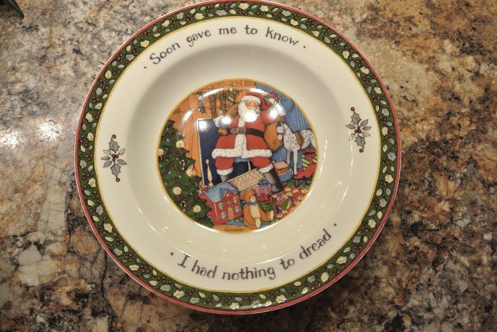 Susan Winget A Christmas Story Chrismas Dishes 9 1/4\