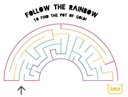 Free Unicorn Rainbow Mazes Sheets Printable Puzzles For Children