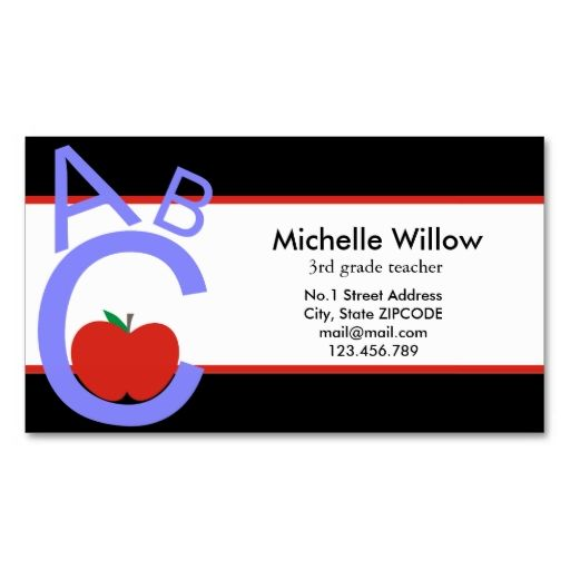 Abc apple school teacher business card templates this great abc apple school teacher business card templates this great business card design is available for reheart Choice Image